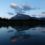 Mount Rundle at sunset at Banff Canada