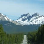 Neverending highway in the Canadian Rockies