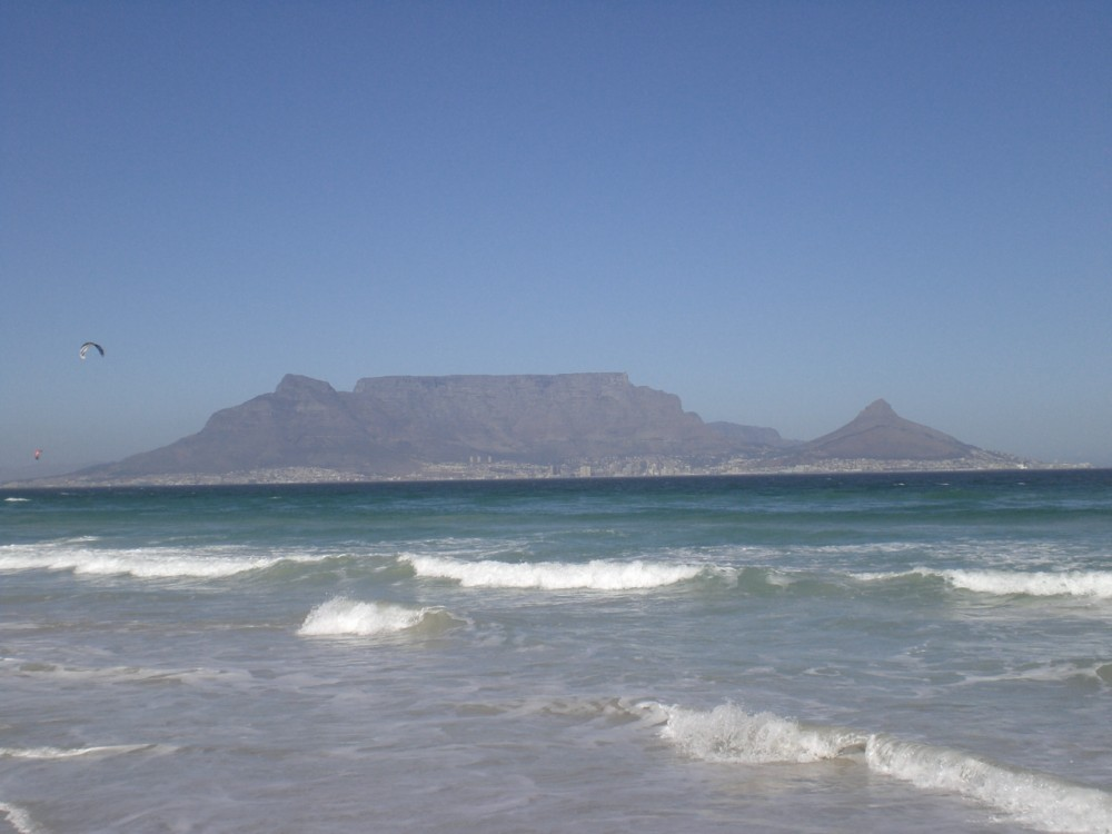 Capetown with Table Mountain in South Africa