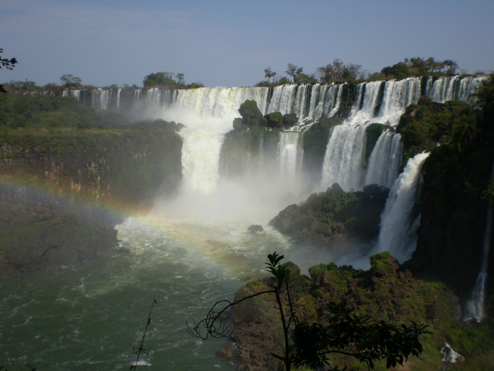 Iguazu falls in Argentina and Brasil